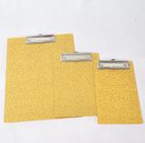 金色布纹菜单板夹